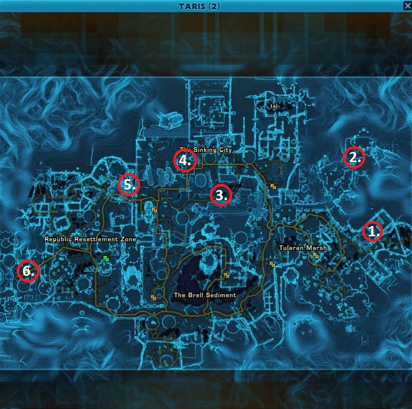 Swtor MCR-99 Droid Reconnaissance Taris Empire Location Map