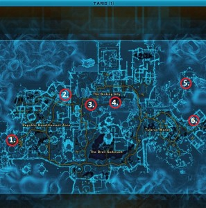 Swtor MCR-99 Droid Reconnaissance Taris Republic Location Map