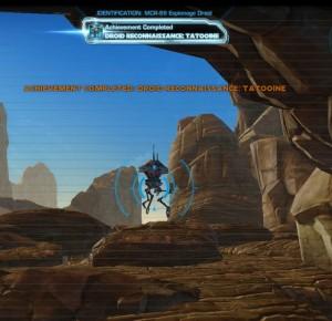 Swtor MCR-99 Droid Reconnaissance Tatooine Achievement