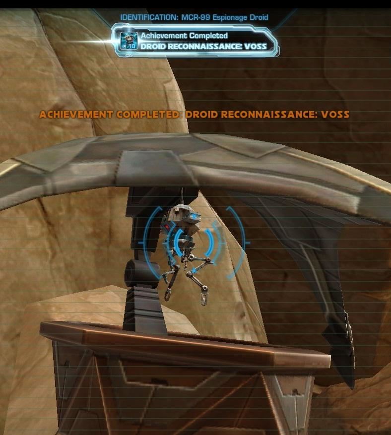 Swtor MCR-99 Droid Reconnaissance Voss Achievement