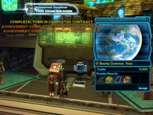 SWTOR Henchmen Bounty Contract Week