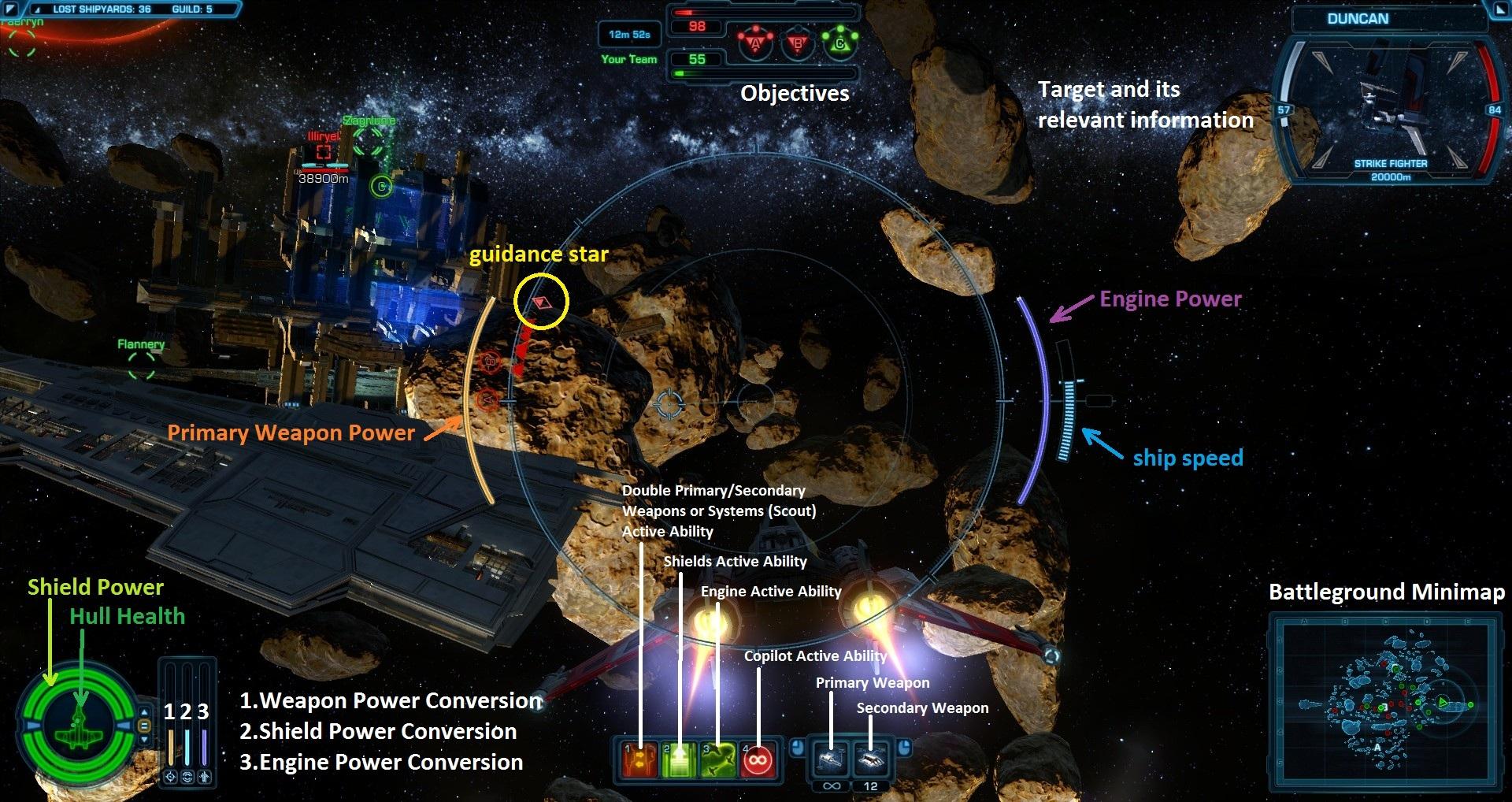 Galactic Starfighter Space Combat UI
