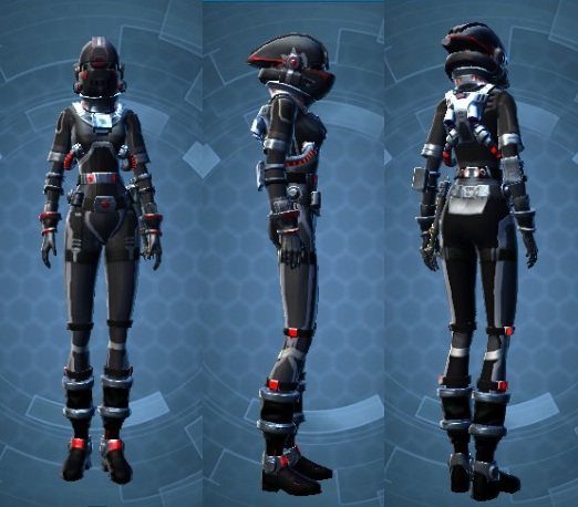 SWTOR Imperial Covert Pilot Suit - Galactic Starfighter Gear ...