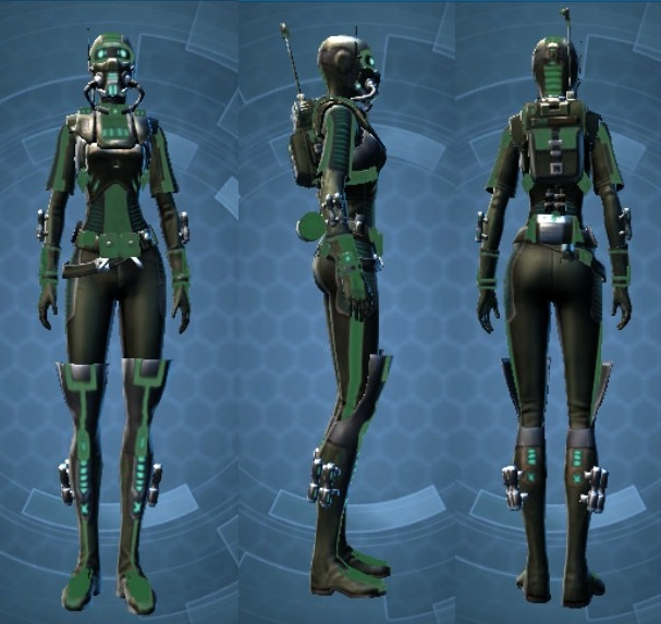 Swtor THORN Reputation Dark Vector Armor Set