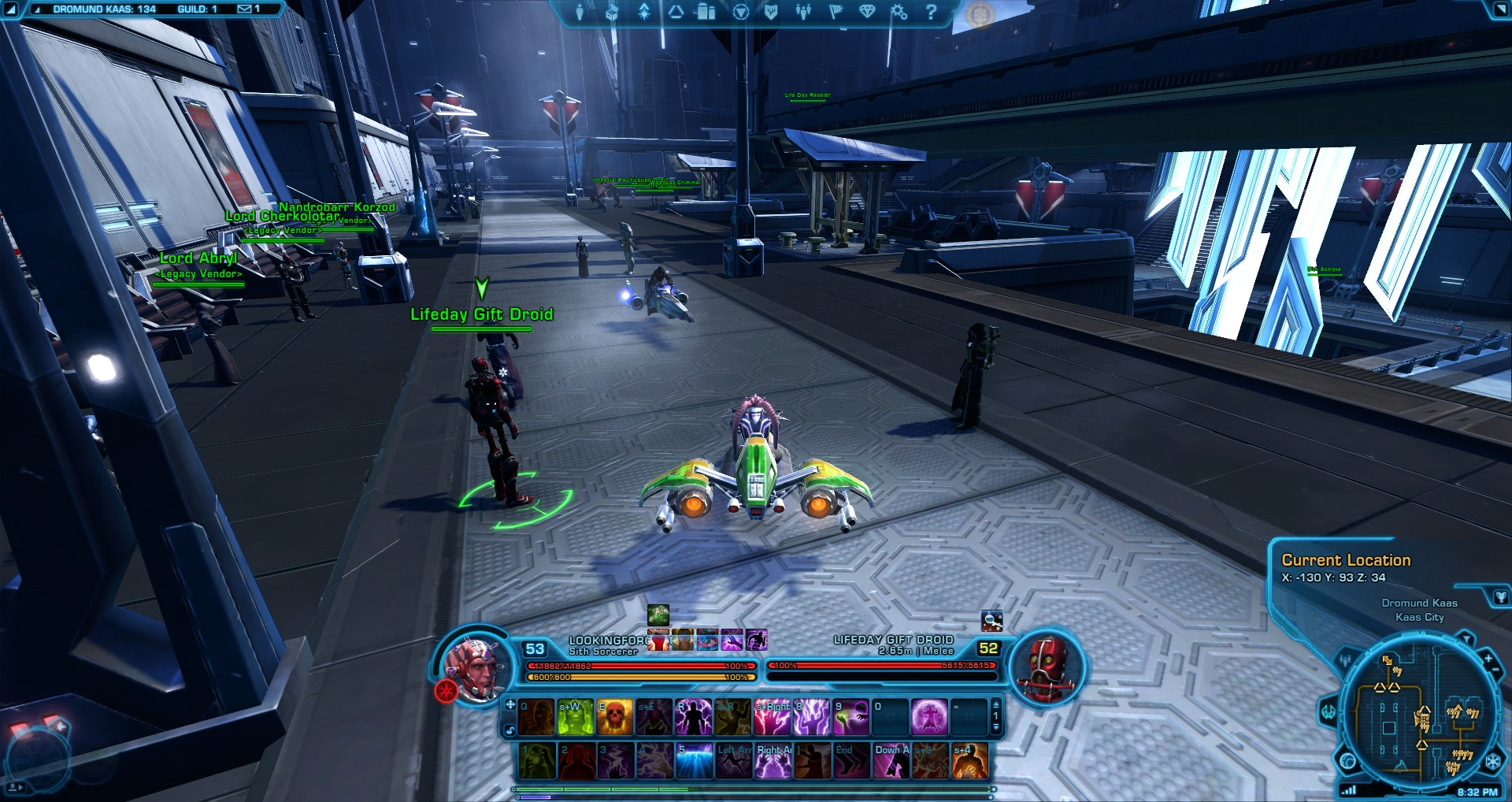 Swtor Life Day Event Dromund Kaas Overheated Gift Droids Location
