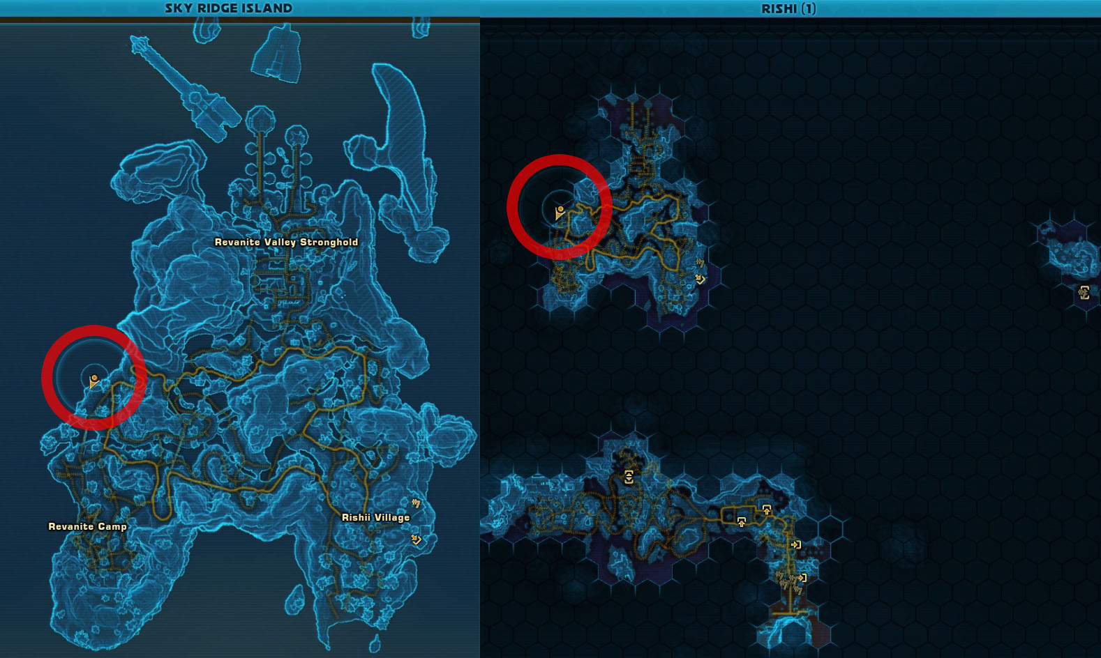 Swtor Shadow of Raven Rishi Datacrons Location